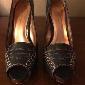 Size 8.5 never worn Jessica Simpson peep toe pumps